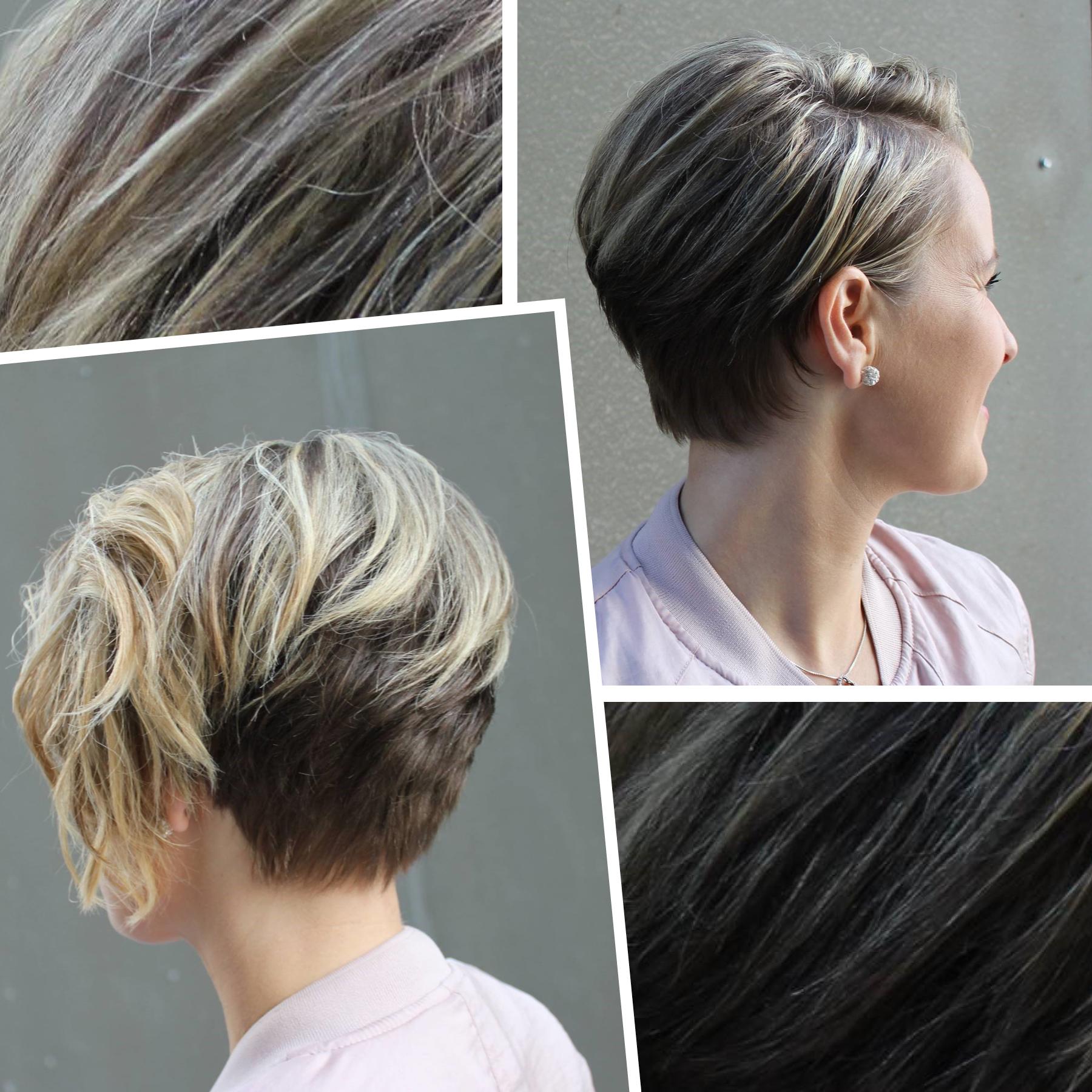 lyst sombre hår