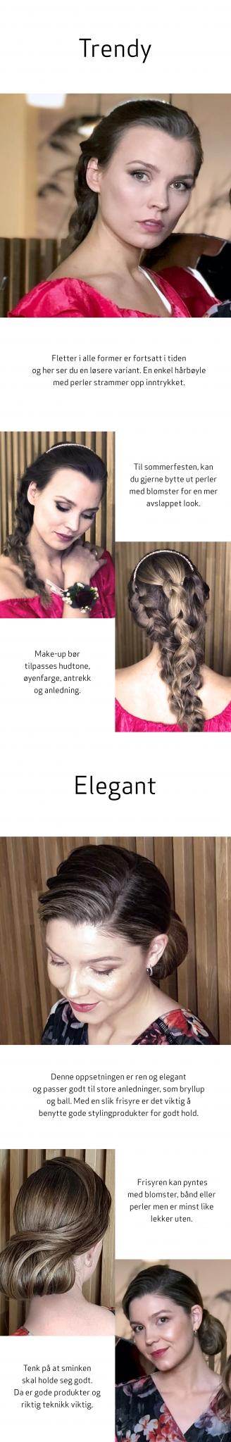 Feststyling langt hår