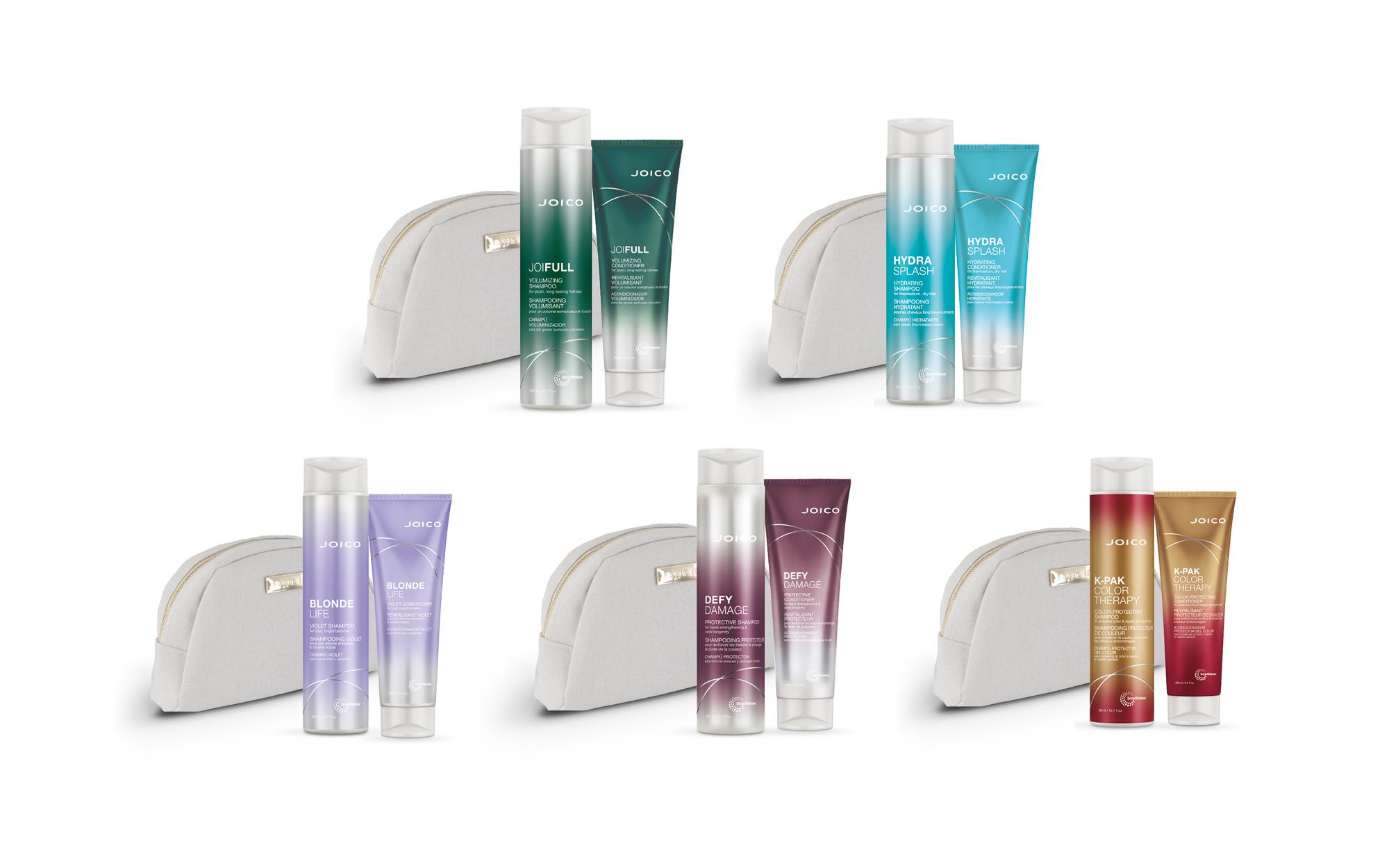 Joico shampoo conditioner og toalettmappe