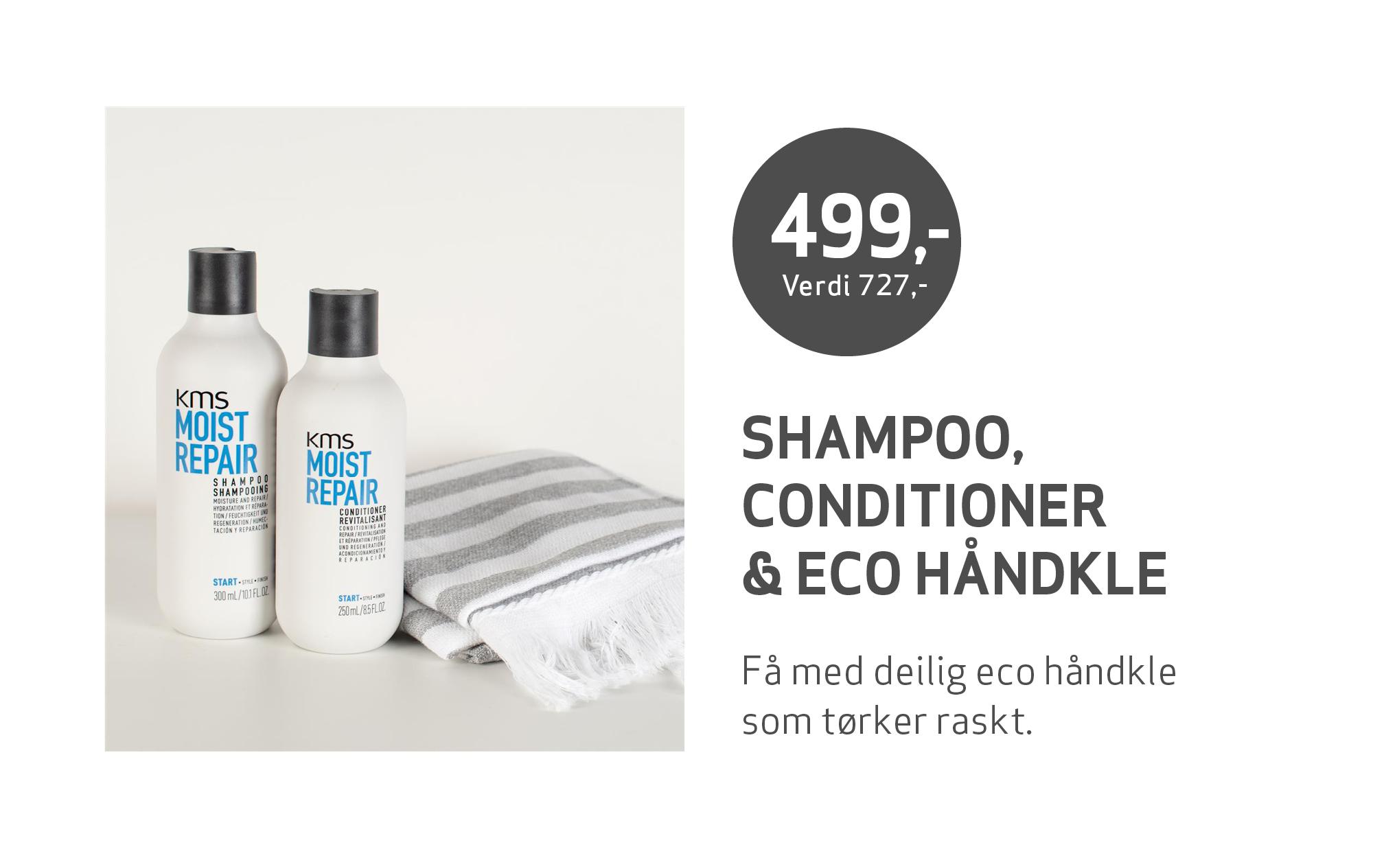KMS Shampoo, conditioner og håndkle