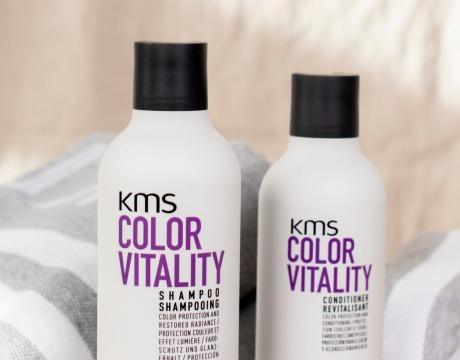 Shampoo, balsam og håndkle