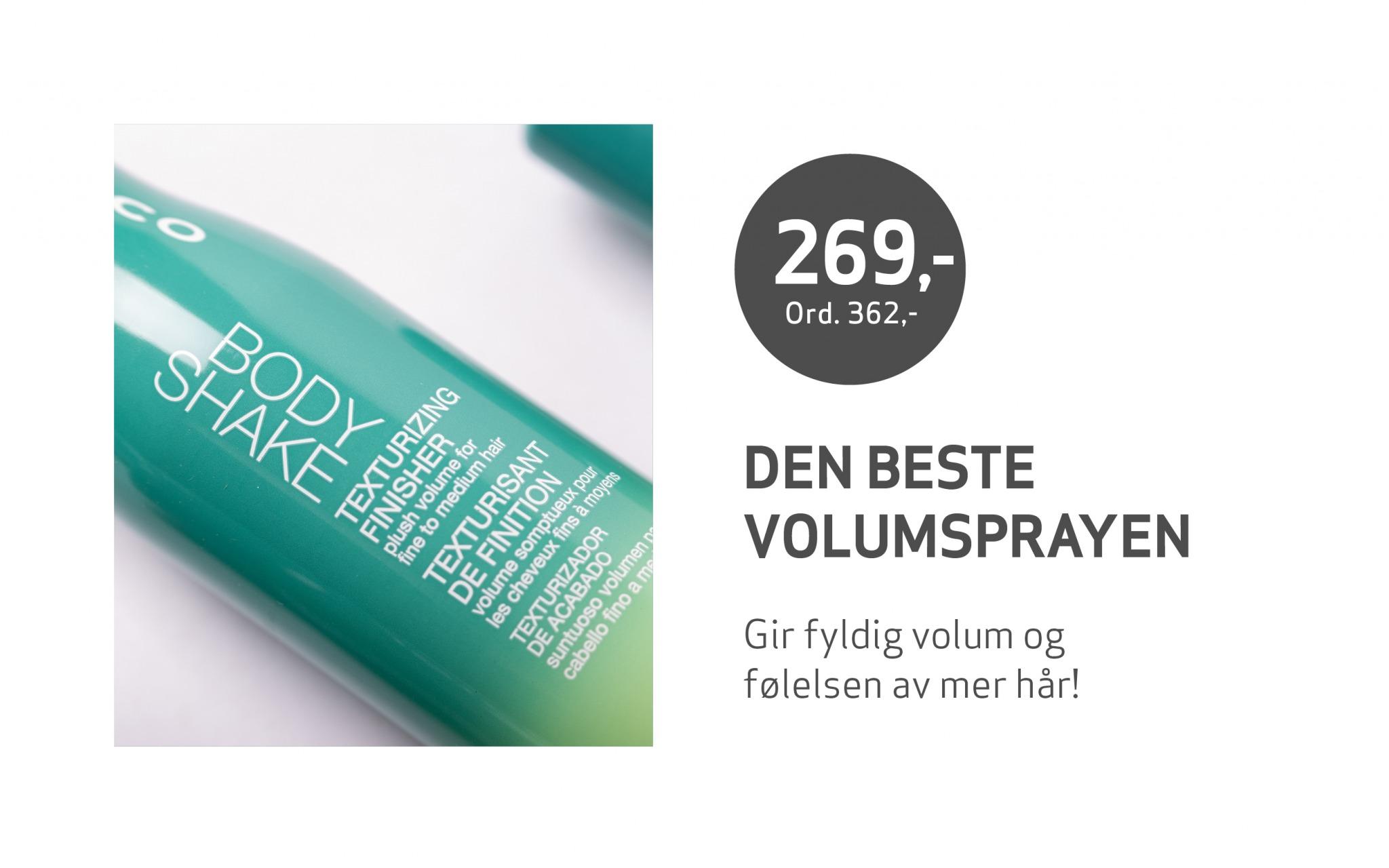 Utsnitt av hårsprayen Body Shake